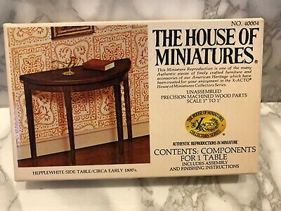 The House Of Miniatures -No 40004- Hepplewhite Side Table. Kit Circa Early 1800
