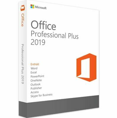 Microsoft Office Professional / Pro Plus 2019 License Key Product Code Genuine !