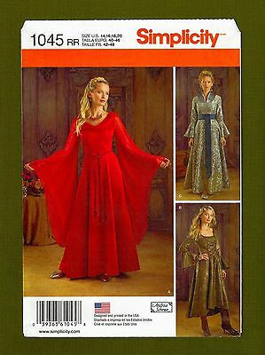 Medieval Gown Game of Thrones Costume Sewing Pattern (14-20) Simplicity 1045