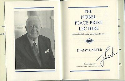 Jimmy Carter Signed Autographed Nobel Peace Prize Book 1/1 Rare!! Proof!!!!