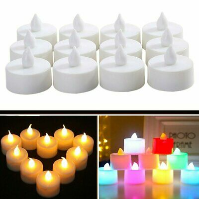 24/48X LED Flameless Candles Tea Light Wedding Xmas Party Decor Battery Included