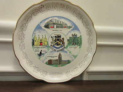Vintage Collectors Plate -- Canada -- Centennial 1867-1967 -- City Of London, On