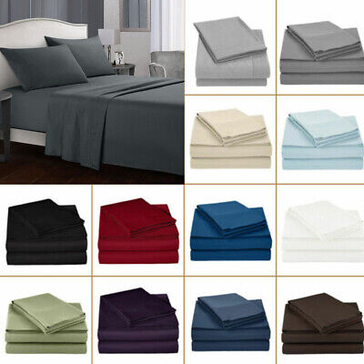 Ultra SOFT Bed Sheet Set King/Queen/Double/Single Size Flat & Fitted Pillowcases