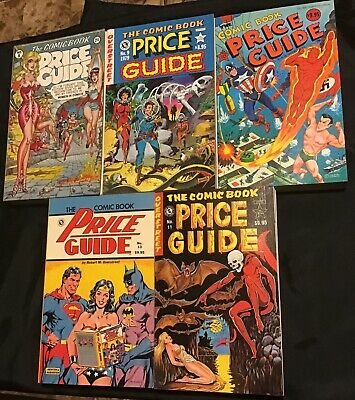 Overstreet Comic Book Price Guide Lot #8, 9, 10, 11 & 13 Softcovers