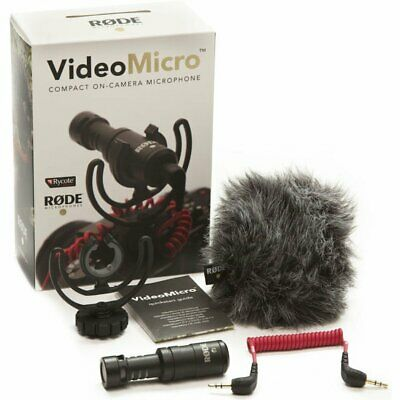 VideoMicro Ultra-Small Condenser Microphone for DSLR  Camera 3.5mm output