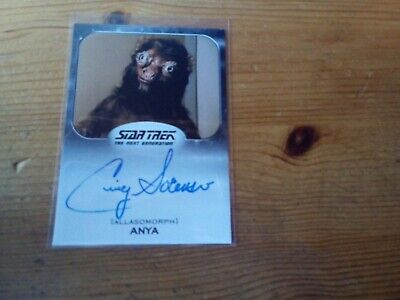 Star Trek 50Th Anniversary Autograph Card Of Cindy Sorenson