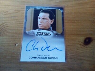 Star Trek 50Th Anniversary Autograph Card Of Charles Dennis