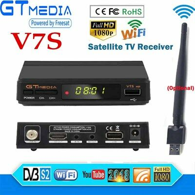DVB-S2 HD Smart Digital Satellite Receiver FTA Full HD 1080P Decoder Tuner +WIFI