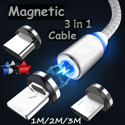 UGI Magnetic Micro USB Type-C IOS Charger Charging Cable For iPhone Samsung lot
