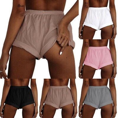 Women Shorts Elastic Waist Hot Pant Summer Casual Lounge Loose Trouser Plus Size