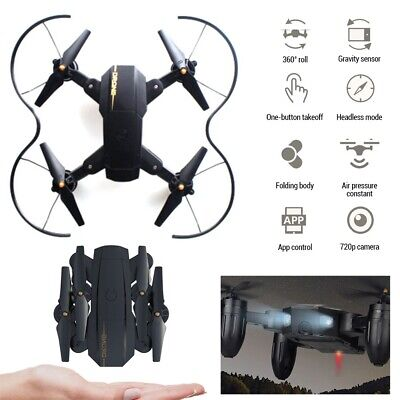 2019 2.4G 720P Foldable RC Drone HD Camera Selfie WIFI FPV Follow Me Quadcopter