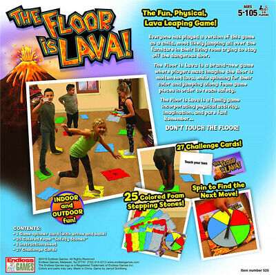 The Floor is Lava! Easy to Play Board Game for Kids and Adults (Ages 5+)