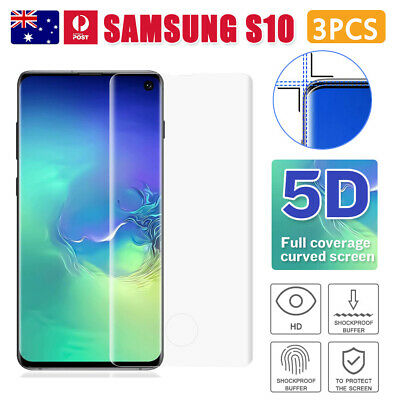 3x Samsung Galaxy S8 S9 S10 6D 9H Full Coverage Tempered Glass Screen Protector