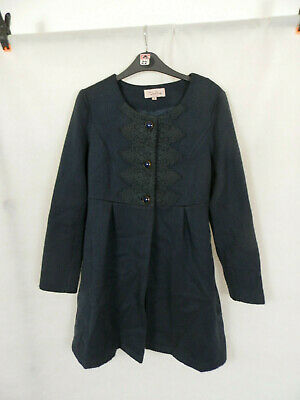 Ladies Darling Navy Wool Mix Winter Lined Coat Womens Size Small