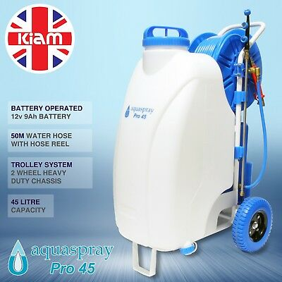 window cleaning water fed pole crop garden sprayer spraying 45 litre trolley.