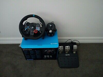 Logitech G29 Racing Wheel FOR PS3 PS4 & PC WITH GEAR Stick. ONLY USED TWICE.