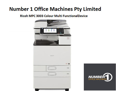 Ricoh MPC 3003 Colour Copy,Network Print,Fax,Scan,PostScript,USB Print/Scan