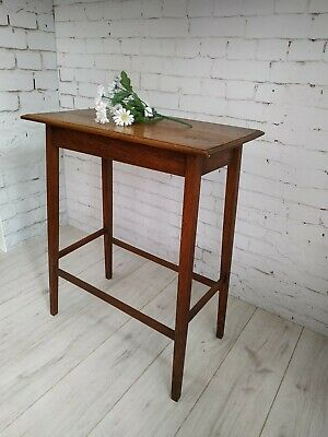 Antique Vintage Oak Hall Table Console Table Plant Stand Tall Table Ocassional