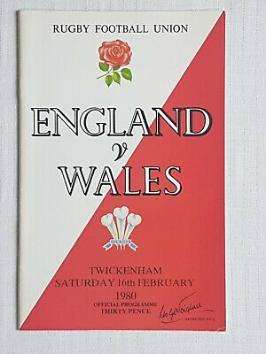 Rugby Programme England v Wales 1980