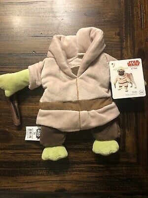 New Star Wars Yoda Dog Costume Halloween XS 11-13 inches (missing hat)