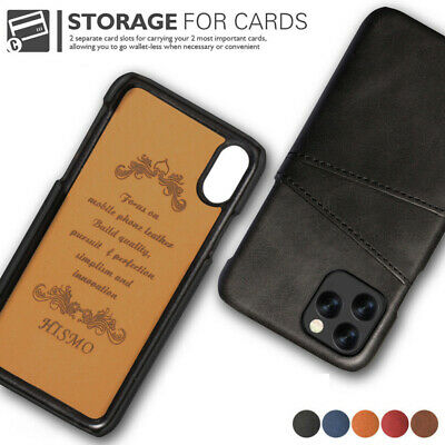 Leather Card Wallet Hard PC Case Cover For iPhone 11 Pro Max XS XR X 7 8 Plus 6s