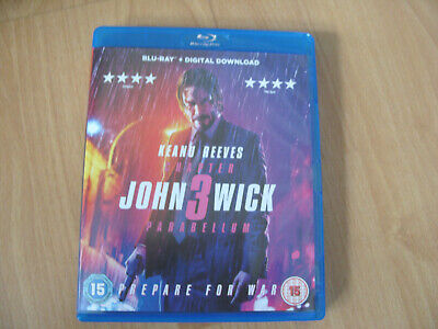 John Wick Chapter 3 Parabellum - Blu-Ray + Digital Download - Mint