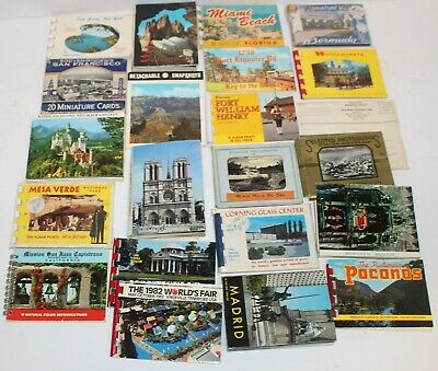 Huge Lot of Vintage Souvenir Photo Cards US Scenic Madrid 50's Postcards Beach