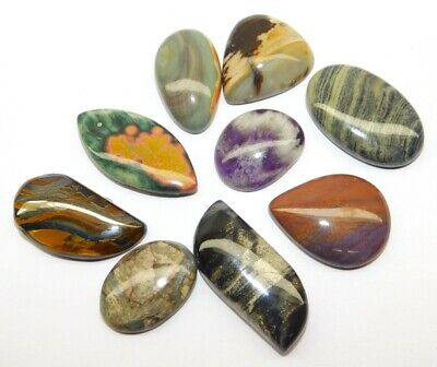 Mix Gemstone Natural Loose Gemstone Cabochon Lot 191Cts. 9Pcs 32475