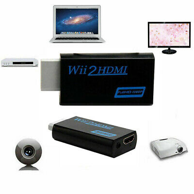 DOONJIEY 3.5mm Audio for Wii to HDMI Full HD 1080P Adapter Converter for HDTV MO