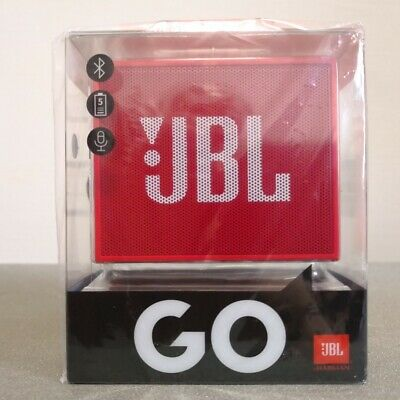 NEW SEALED BOX JBL Go (Red) Portable Bluetooth Speaker with Free Waist Pouch