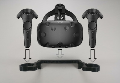 Wall Mount / Bracket For The HTC VIVE Headset and Controller In Black