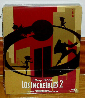 The Incredibles 2 Disney 2 Blu-Ray Neuf Animation Steelbook (sans Ouvrir) R2