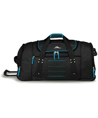 High Sierra Ultimate Access 76cm Wheeled Duffel Backpack Black/Blue