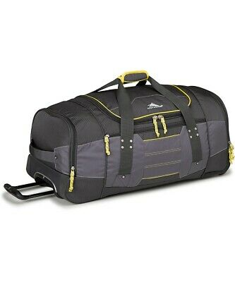 High Sierra Ultimate Access 76cm Wheeled Duffel Backpack Charcoal/Yellow