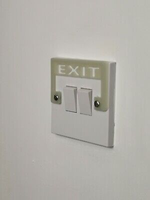 Light Switch Cover EXIT Sign : Glow in The Dark