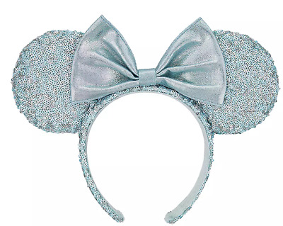 Disney Parks Minnie Mouse Sequined Ear Headband – Arendelle Aqua