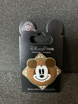 Disney Mickey Mouse Parks Pin - Brown Compass Mickey Trading Pin Collectible