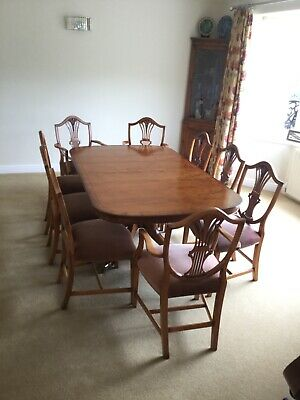 Bevan funnell Reprodux Extendable Dining Table + 8 Chairs