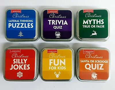 Christmas Trivia & Entertainment Tin Family Quiz Dinner Party After Dinner Games