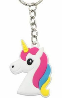 Unicorn Keyring Magical Silicone Girl Bag Pendant Keychain Red T001 C4 a AL71