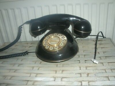 Vintage  Style Astral Knightsbridge Telephone, button dial, works,with connector