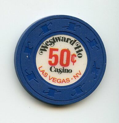 Wesward Ho Casino, Las Vegas NV, 50 cent chip, uncirculated