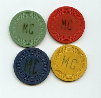 Mounds Club, four pc, recent find, Mentor OH, illegal casino chips