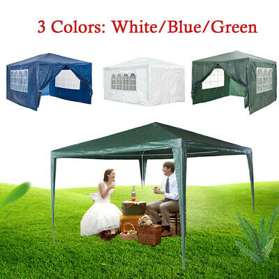 3x3M/4M/6M Gazebo Marquee Canopy Waterproof Garden Patio Party Tent UV Shade