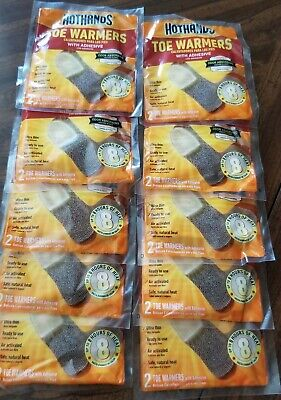 HotHands Toe Warmers 10 Pairs Safe Natural Odorless Heat Free Ship