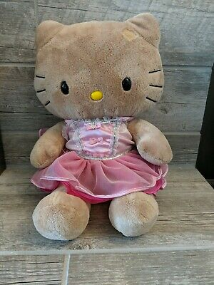 Build A Bear Workshop Hello Kitty Brown Plush with Pink TuTu Dress Outfit 20""