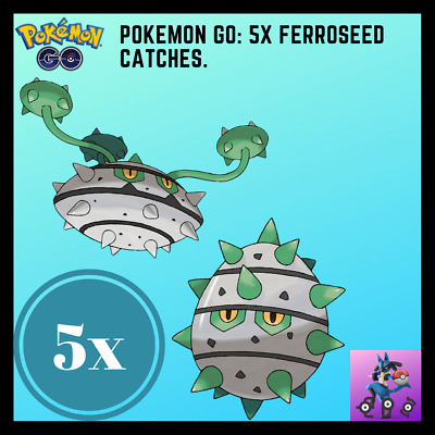 Pokemon Go | 5x Ferroseed Catches!