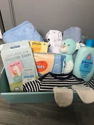Hospital/new born essentials baby gift basket/hamper boy baby shower