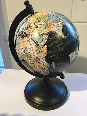World Globe Small Ornamental World Globe On A Rotating Metal Stand