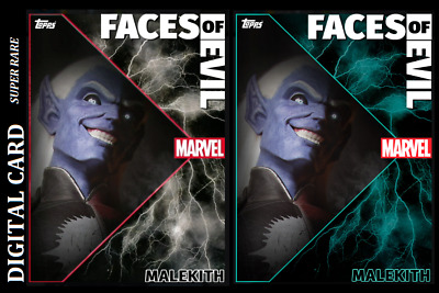 TOPPS MARVEL COLLECT CARD TRADER FACES OF EVIL MALEKITH Motion & Static Card [2]